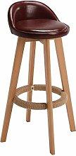 HAOYF Dining Chair Barstools,backless swivel stool