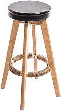 HAOYF Wooden Bar Stools Bar Stools Rotating