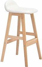 HAOYF Wooden Bar Stools Barstools,backless swivel