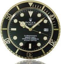 HAOYUN Rolex Wall Clock Gold Trim