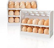 HapiLeap Egg Holder for Fridge, Stackable Egg