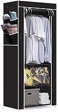 Hapilife Single Canvas Wardrobe Clothes Storage