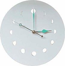 Haplws moon phase wooden clock, kitchen clock