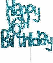 Happy 16th Birthday Cake Topper Decoration in Fun