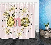 Happy 1st birthday Shower curtain digital printing