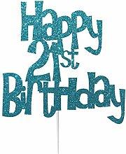 Happy 21st Birthday Cake Topper Decoration in Fun