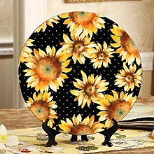 Happy and Beautiful Sunflower Plates Display Stand