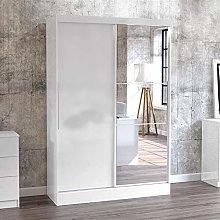 Happy Beds Lynx 2 Door Sliding Mirrored Wardrobe