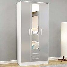 Happy Beds Lynx 3 Door Combination Mirrored