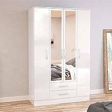 Happy Beds Lynx 4 Door Combination Mirrored