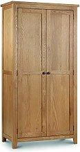 Happy Beds Marlborough Oak 2 Door Wardrobe Wooden