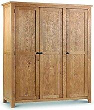 Happy Beds Marlborough Oak 3 Door Wardrobe Shelves