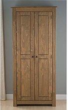 Happy Beds Santiago Pine 2 Door Wardrobe Wooden