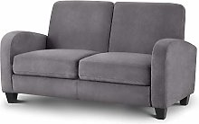 Happy Beds Vivo Grey Fabric 2 Seater Sofa Couch