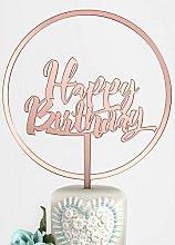 Happy Birthday and Large Flower Hoop Premium