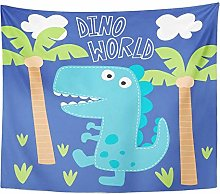 Happy Blue Dinosaur Dino World Colorful Baby