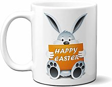Happy Easter - Bunny Holding Happy Easter - 15oz