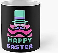 Happy Easter Egg with Hat and Mustache Classic Mug
