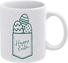 Happy Easter Eggs Pocket Mug Egg in A Pocket
