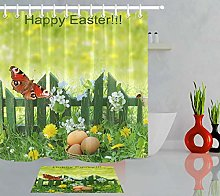 Happy Easter Spring Flowers Butterfly Polyester