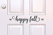 Happy Fall Decal Fall Porch Decor Happy Fall Vinyl
