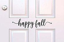 Happy Fall Decal Happy Fall Vinyl Door Decal Fall