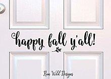 Happy Fall Y'all Decal Fall Porch Decor Happy