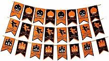 Happy Halloween Banner Pumpkin Witch Castle Banner