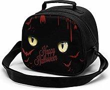 Happy Halloween Yellow Eyes Insulated Lunch Bag