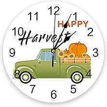 Happy Harvest PVC Wall Clock, Silent Non-Ticking