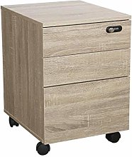 Happy Home 3-Drawer Mobile Filing Cabinet Vertical