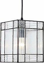 Happy Homewares Contemporary Clear Glass Tiffany