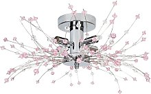 Happy Homewares - Modern Chrome Ceiling Light with