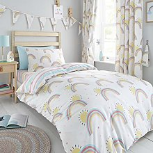 Happy Linen Company Girls Kids Rainbows Sunshine
