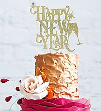 Happy New Years Party Cake Topper - Glitter Gold -