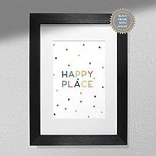 Happy Place Nursery Print - Children's Wall
