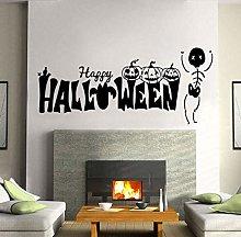 Happy Skull Ghost Wall Sticker Vinyl Home Decor