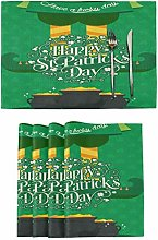 Happy St. Patrick's Day Irish Placemats Tables