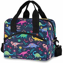 HappyCAT Dinosaur Lunch Bag Cooler Bag Navy