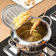 Happymore Tempura Deep Fryer Pot, Mini Fry Pan