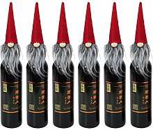 Happyyami 6pcs Christmas Wine Bottle Cover Swedish