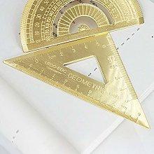 Haptian Brass Lsosceles Triangle Ruler Drawing