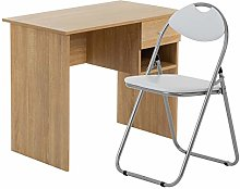 Harbour Housewares 2 Piece Office Desk and Chair