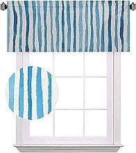 Harbour Stripe Short Valances, Watercolor Stripes