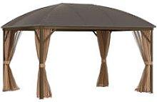 Hardtop Gazebo Aluminum Frame Garden Shelter w/