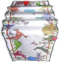 HARES TABLE RUNNER by MollyMac Colourful Rabbit