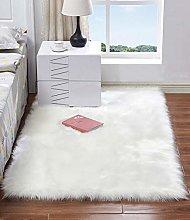 HARESLE Faux Fur Rug Soft Fluffy Rugs Anti-Skid