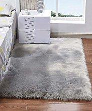 HARESLE Rectangular Sofa Floor Rugs Faux Fur