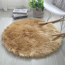 HARESLE Round Shaggy Rugs Fluffy Fur Area Rug