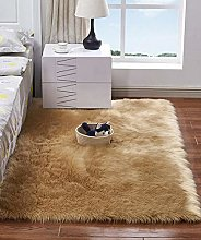 HARESLE Woolen Floor Rug Non Slip Fluffy Area Rugs